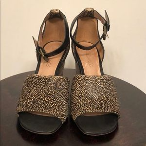 Madewell spotted calf hair mule sz 6